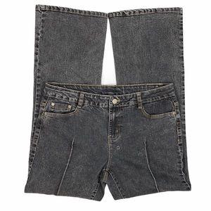 Soft Surroundings Petite Faded Black Bootcut Jeans